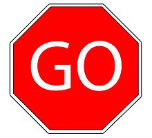 Go sign red  Photographic Print