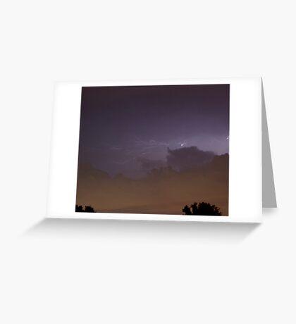 Ominous Lightening Greeting Card