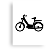 Moped Canvas Print