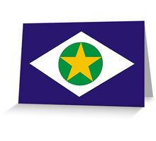 Flag of Brazilian State of Mato Grosso Greeting Card