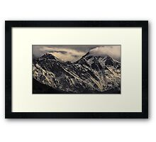 NEPAL:MT.EVEREST & LHOTSE Framed Print