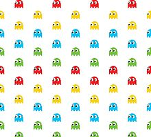 Pac-Man Ghosts Arcade Pattern for Leggins, Phone Cases by Don Corgi