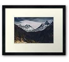 NEPAL:MT.EVEREST / LHOTSE / AMA DABLAM Framed Print