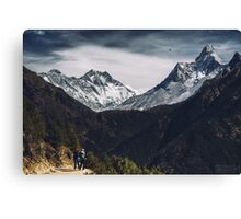 NEPAL:MT.EVEREST / LHOTSE / AMA DABLAM Canvas Print