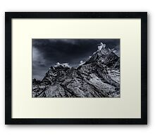 NEPAL:SMOKE IN THE MOUNTAINS Framed Print