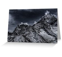 NEPAL:SMOKE IN THE MOUNTAINS Greeting Card