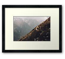 NEPAL:LONE TRAVELLER Framed Print