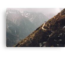 NEPAL:LONE TRAVELLER Canvas Print