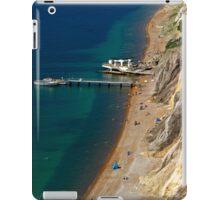 The Beach and Sand Cliffs of Alum Bay iPad Case/Skin