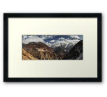 NEPAL:PANORAMA OF PHORTSE / AMA DABLAM Framed Print