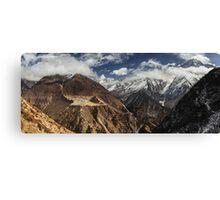 NEPAL:PANORAMA OF PHORTSE / AMA DABLAM Canvas Print