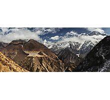 NEPAL:PANORAMA OF PHORTSE / AMA DABLAM Photographic Print