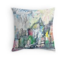 SPRING STORM IN THE CITY(C2010) Throw Pillow