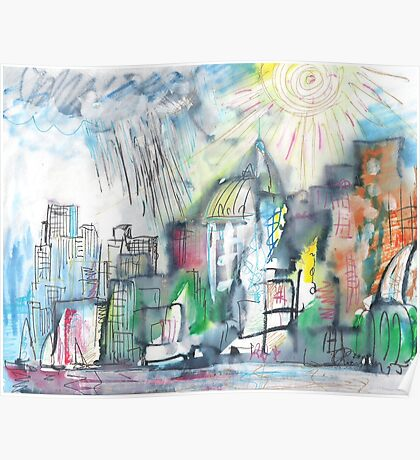 SPRING STORM IN THE CITY(C2010) Poster
