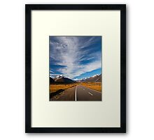 NEW ZEALAND:ROAD TO MT.COOK Framed Print