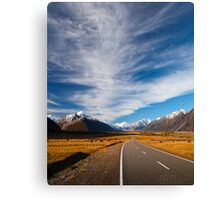 NEW ZEALAND:ROAD TO MT.COOK Canvas Print