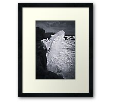 NEW ZEALAND:60 FT. WAVE AT SLOPE POINT Framed Print