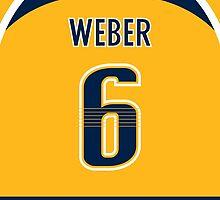 Nashville Predators Shea Weber Jersey Back Phone Case by Russ Jericho