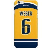 Nashville Predators Shea Weber Jersey Back Phone Case iPhone Case/Skin