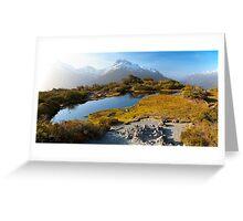 NEW ZEALAND:KEY SUMMIT AT SUNSET Greeting Card