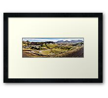 ICELAND:PANORAMA WITH VOLCANO Framed Print
