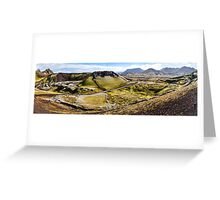 ICELAND:PANORAMA WITH VOLCANO Greeting Card