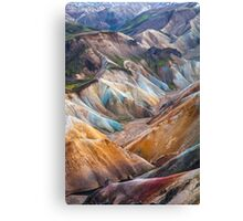 ICELAND:THE COLORS OF THE EARTH Canvas Print