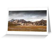 ICELAND:RISING STORM Greeting Card