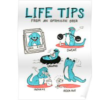 Life Tips From An Optimistic Otter Poster