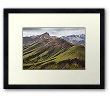 ICELAND:GREEN MOUNTAINS Framed Print