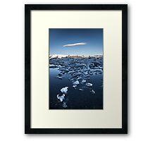 ICELAND:GLACIER LAGOON Framed Print