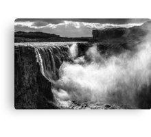 ICELAND:THE GIANT WATERFALL Canvas Print