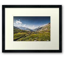SWISS ALPS:THE HIGH ROAD Framed Print