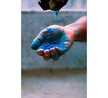 Blue Color Photographic Print