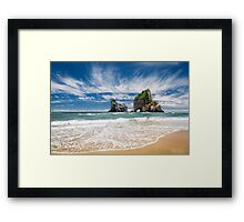 NEW ZEALAND:THE SECRET BEACH Framed Print
