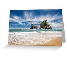 NEW ZEALAND:THE SECRET BEACH Greeting Card