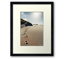 NEW ZEALAND:FOOTSTEPS IN THE SAND Framed Print