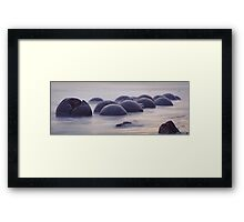 NEW ZEALAND:MOERAKI BOULDERS AT DAWN Framed Print