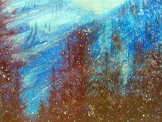 Snowmass   Blue On Blue      ( My Paintings ) by fiat777