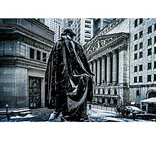 Another Cold Cold Day On Wall Street Photographic Print