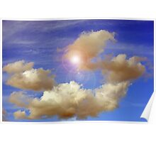 Clouds Floating By II Poster