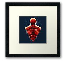 Spider-Man Bust Framed Print
