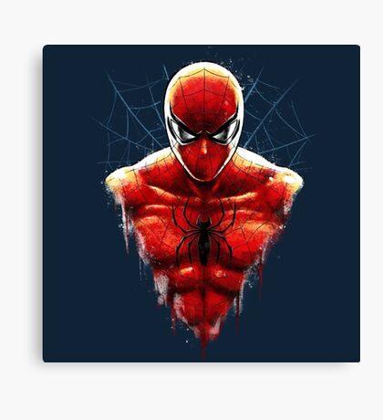 Spider-Man Bust Canvas Print