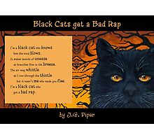 """Black Cats get a Bad Rap - """"The Wind Blows"""" Photographic Print"""
