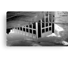 Puddle in monochrome Canvas Print