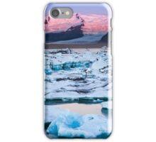 ICELAND:SUNRISE AT THE GLACIER LAGOON iPhone Case/Skin