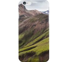 ICELAND:GREEN MOUNTAINS iPhone Case/Skin