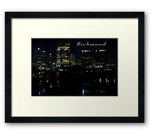 Richmond Skyline Framed Print