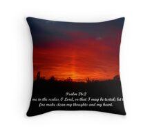 Psalm 26:2 Throw Pillow