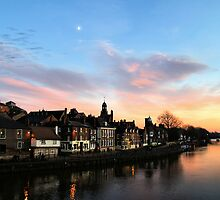 Sunset over King's Snaith by clickinhistory